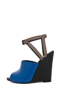 3.1 phillip lim Juliette Wedge Sandal in Blue - Forward by Elyse Walker
