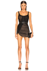 AADNEVIK Aadnevik Bustier Lace Mini Dress In Black
