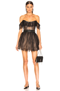 AADNEVIK Aadnevik Lace Mini Dress In Black