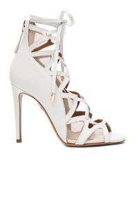 Photo of SPRWMN High Waist Crop Leather Legging in Black shop SPRWMN shoes