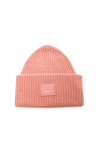 ACNE STUDIOS PANSY FACE BEANIE IN PINK