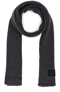 ACNE STUDIOS PANSY FACE SCARF IN GRAY