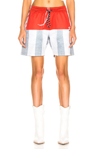 Adidas By Alexander Wang Photocopy Short In Gray,Red,Stripes,White in Stbrick