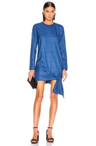 ATOIR Atoir Take Me Back Dress In Blue,Plaid