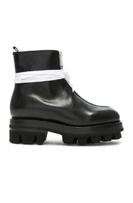 ALYX Tank 50 Leather Zip Up Ankle Boots in Black