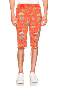 ALCHEMIST X DR. WOO ALOHA SHORTS IN PINK,FLORAL