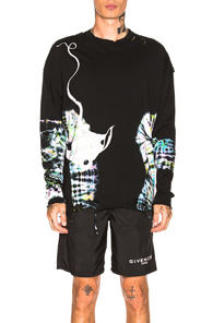 ALCHEMIST X DR. WOO SALINAS LONG SLEEVE TEE IN ABSTRACT,BLACK,OMBRE & TIE DYE