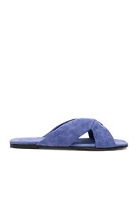 ALUMNAE SOFT X SLIDE SANDALS IN PURPLE,BLUE