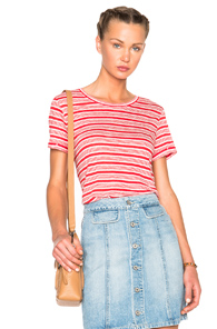 A.P.C. Chic Tee in Red,Stripes