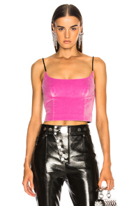ALEXANDER WANG FITTED CAMI TOP IN BLACK,PINK