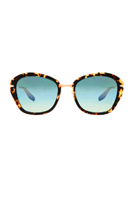 Barton Perreira Farrow Sunglasses in Animal Print,Brown
