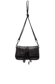 Bottega Veneta Nappa Charcoal Shoulder Bag in Black