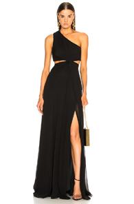 CINQ A SEPT GOLDIE DRESS IN BLACK