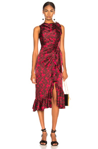 CINQ A SEPT NANON DRESS IN FLORAL,RED