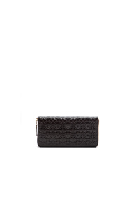 Comme Des Garcons Long Star Embossed Wallet in Black