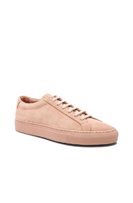 COMMON PROJECTS ORIGINAL SUEDE ACHILLES LOW IN PINK