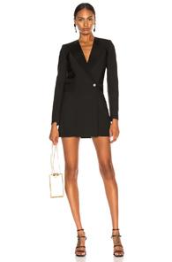 DION LEE TUXEDO COAT DRESS IN BLACK