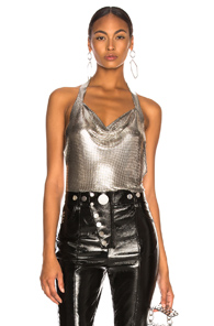 FANNIE SCHIAVONI CRYSTAL TOP IN METALLICS
