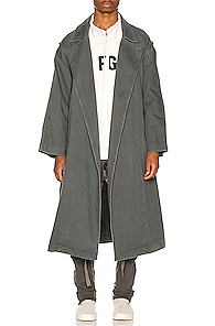 FEAR OF GOD   Fear of God Canvas Trenchcoat in Green   Goxip
