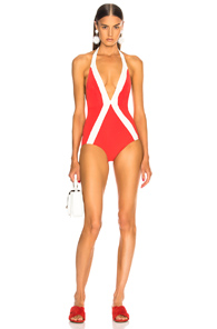 FLAGPOLE FOR FWRD JADE SWIMSUIT IN RED,WHITE