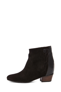 Golden Goose Milk Suede Wedge Booties in Black