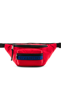 GIVENCHY RED NYLON FANNY PACK