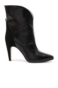 Givenchy Suede-Paneled Leather Ankle Boots e8UDzwDF