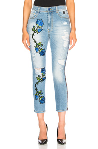HISTORY REPEATS DESTROYED FLOWER JEAN IN BLUE