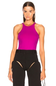 HELMUT LANG RACERFRONT TANK TOP IN PINK