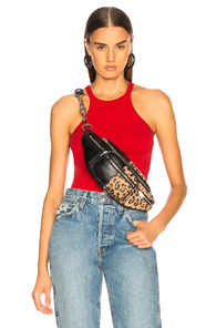 HELMUT LANG RACERFRONT TANK TOP IN RED