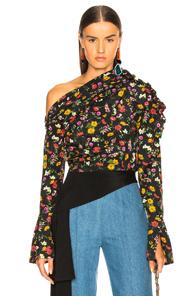 HELLESSY Belle Asymmetrical Floral Blouse