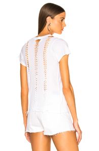 ICONS BRAID BACK SHORT SLEEVE TEE IN WHITE