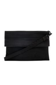 ISSEY MIYAKE HOMME PLISSE PLEATED BAG IN BLACK