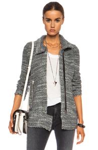 IRO Ajuma Acrylic-Blend Jacket in Gray