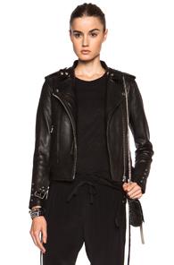 IRO Zaki Leather Jacket in Black