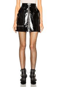 Isabel Marant Lynne Patent Leather Skirt in Black