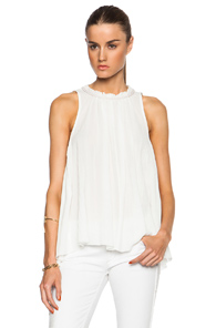 Isabel Marant Good Cotton Gauze Blouse in White
