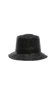 JANESSA LEONE MARTA HAT IN BLACK