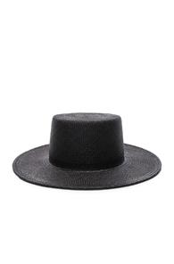 JANESSA LEONE CALLIE HAT IN BLACK