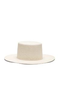 JANESSA LEONE CAMIE HAT IN WHITE