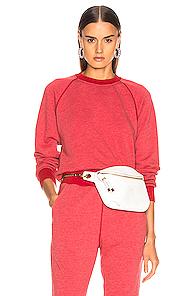 JOHN ELLIOTT | JOHN ELLIOTT Vintage Fleece Crew Sweatshirt in Red | Goxip