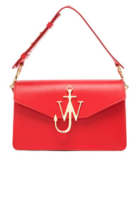 JW ANDERSON LOGO PURSE IN RED