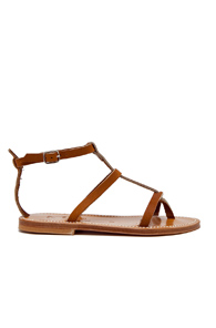 K. Jacques Gina Leather Sandals in Brown