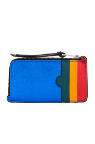 LOEWE RAINBOW COIN CARD HOLDER IN BLACK,METALLICS
