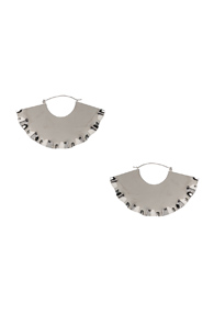 LOEWE FRILLS EARRINGS IN METALLICS