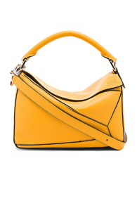 LOEWE PUZZLE SMALL BAG IN YELLOW