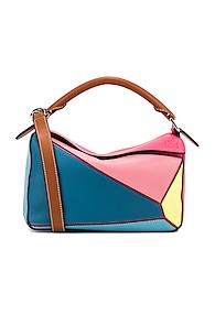 LOEWE | Loewe Puzzle Small Bag in Blue,Pink | Goxip