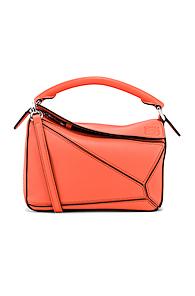 LOEWE | Loewe Puzzle Mini Bag in Orange | Goxip