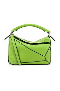 LOEWE | Loewe Puzzle Mini Bag in Green | Goxip