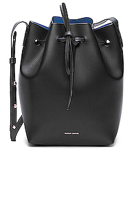 Mansur Gavriel Coated Mini Bucket Bag in Black